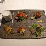 リストランテ ラストリカート - 小さな前菜6種の盛合わせ