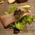 リストランテ ラストリカート - 前菜 ヒラマサのカルパッチョ