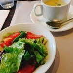 85452437 - サラダ、スープ