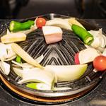 炭焼き 成吉思汗いし田 - 「焼き野菜」