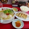 天下一品 - 料理写真:餃子定食960円(税込)…ラーメン+白御飯+餃子5個+漬物。