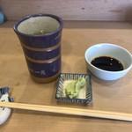 85461646 - ワサビは相変わらずのボリュームで、辛さが程良いです。お茶は寿司屋のお茶って感じで美味いです。