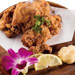 燻製鶏の竜田揚げ