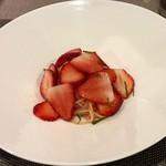 イタリアンレストラン Zucca - とちおとめの冷製カッペリーニ