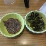 あげたて - 料理写真:塩辛、高菜