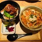 あえん - 佐渡島黒豚のステーキ丼と桜海老おろしうどん御膳(1,680円)