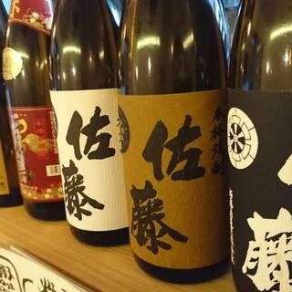 プレミアム日本酒の種類豊富にそろえています