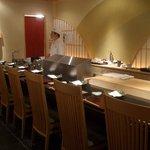 寿司・日本料理 さわ田 - 寿司のコーナー。