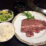 どんどこ湯 レストラン - あか牛ステーキ+入浴、2000円