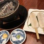 85490639 - 生笹かまぼこ焼き