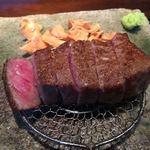 炭火鉄板焼 杜季 - 料理写真:黒毛和牛ロース
