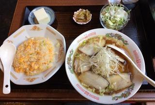 中華料理 香香 - 叉焼麺定食700円税込み