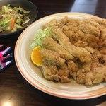 千石 - 料理写真:野菜炒めと山賊焼