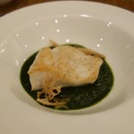 カフェ&スペイン料理 ヒラソル - 白身魚 アンチョビとトマトソース