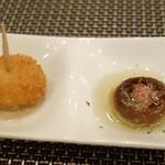 カフェ&スペイン料理 ヒラソル - クリームコロッケ マッシュルーム