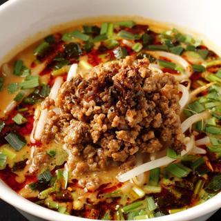 中国山椒と辣油の効いたタンタン麺