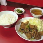 北京亭 - 料理写真:レバから揚定食(2018/05/07撮影)