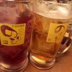 王道居酒屋 のりを  - 巨峰チューハイ&紅茶チューハイ