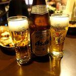 原価酒場 まさ - ビール 300円