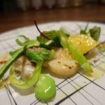 85510399 - 平貝とトリ貝のソテーとお野菜♪