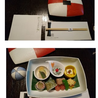 草菴 - 料理写真:一日め夕食  1    蓋物が 楽しい♪