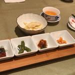 85513985 - ランチの前菜4種。