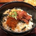 85514578 - 漬けマグロ三色丼 1000円。
