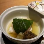日本料理 潤花 - 桜餅と鱈の椀