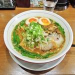 池田麺彩 - 味噌ラーメン(大盛) + 味玉