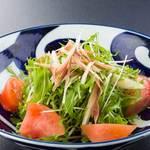 水菜とみょうがのあっさり青じそサラダ