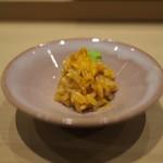 鮨 縁 - 淡路のウニをご飯に混ぜて。