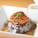 Trattoria M's - 料理写真:旬魚のグリルと雑穀米とパルミジャーノのリゾット~旬の貝のブロード仕立て~