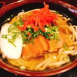 もとぶ熟成麺 - V3そば(820円)