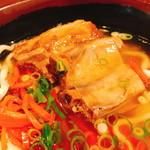 もとぶ熟成麺 - V3そば(820円)肉部