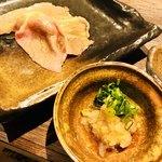 炭焼肉酒場 GOLAZO - 和牛リブロースの炙り寿司☆と薬味☆