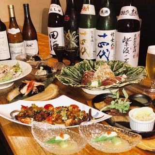 日本全国から旬食材を仕入れた創作和食