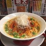 拉麺一匠 DEAD OR ALIVE - 朝天麻辣白湯麺 大盛 平打ち麺