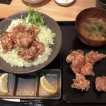 神戸COCCO - からあげ丼&ビールセットのからあげ♪