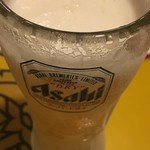 大阪カオマンガイカフェ - 生ビール(´∀`*) アサヒスーパードライ