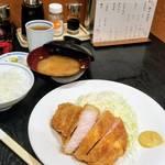 85540653 - ロース2100円+ご飯300円+豚汁200円