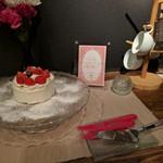 なっぱjuicy - 別室にてDessert Time♡ ホールのケーキだっ!ヾ(*>∀<)ノ゙