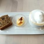 手作り果実酒のお店 時優区 - 果実酒フルーツたっぷりのパウンドケーキ&カフェオレ