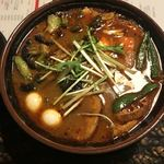 アジアンバー・ラマイ - ヤサイ7辛 スープ大盛り あげブロッコリー増し♡