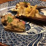千陽 - 筍と青森県産黒毛和牛の炭火焼
