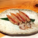 宮武 - 料理長より♡ 金目鯛の脂が溶け込んだ鍋で ほたるいかをしゃぶしゃぶ(*′ω`)b 一鍋で二度美味しい♪
