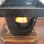華ノ枝 - 鋳鉄の器で焼いていただきます