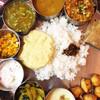 南インド家庭料理 インダスレイ - 料理写真:ベジミールス 盛りだくさん、ポロポロなごはん ¥2000