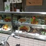 洋食マルヤ - 店先の商品サンプル