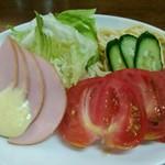 洋食マルヤ - ハムサラダ500円