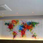 アクセント - オシャレな壁面イラストの世界地図